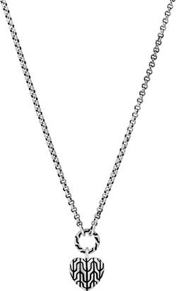 John Hardy Silver Heart Pendant Necklace