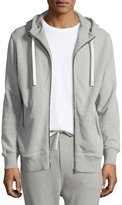 IRO Clevy Zip-Front Knit Hoodie, Gray