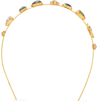 Oscar de la Renta Gold-tone, Crystal And Resin Headband
