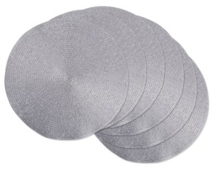 Design Imports Metallic Round Woven Placemat, Set of 6
