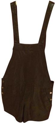 Les Petites Black Leather Shorts for Women