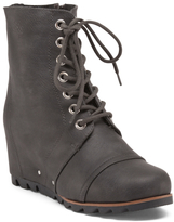 Stella Lace Up Leather Booties