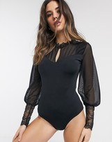 Lingadore Body Mirco Bodysuit with Mesh Sleeves