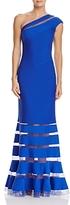 Tadashi Shoji One-Shoulder Pintuck Gown