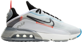 Nike 2090 Running Shoes - White / Black Pure Platinum Bright Crimson