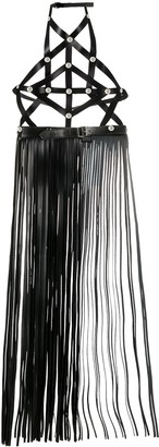 Manokhi Tassel-Detail Halter-Neck Belt