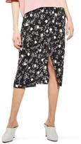 Topshop Women's Floral Plisse Skirt