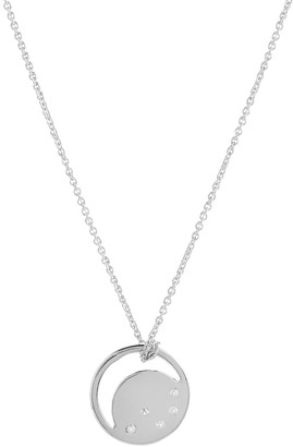 Neola Sterling Silver Eclipse Necklace With White Topaz