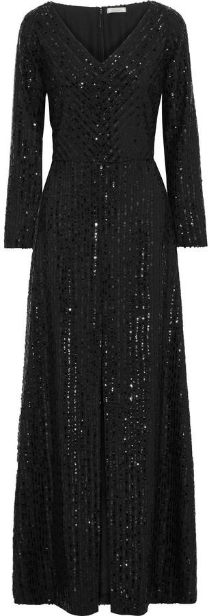 Nina Ricci Sequin-embellished Crepe Gown