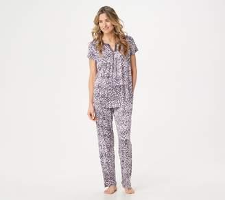 Carole Hochman Rayon Spandex Satin Trim Pajama Set