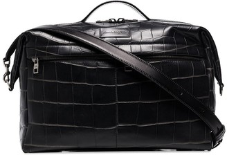 Alexander McQueen Croc-Effect Leather Tote Bag