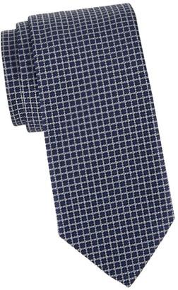 Corneliani Woven Patterned Silk Tie