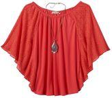 Speechless Girls 7-16 & Plus Size Flutter-Sleeve Top & Necklace Set