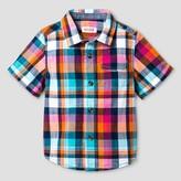 Cat & Jack Baby Boys' Short Sleeve Woven Shirt - Cat & Jack Multi Plaid