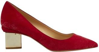 Nicholas Kirkwood Red Suede Heels
