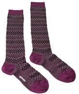 Missoni Gm00cmd4597 0003 Purple/black Boot Socks.
