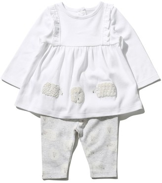 M&Co Sheep top and leggings set (Newborn-9mths)