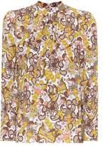Chloé Printed crêpe blouse