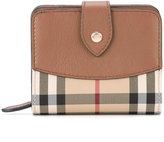 Burberry Horseferry check two fold wallet - women - Calf Leather/Polyester - One Size