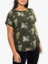 Oasis Curve Tropical Foil Boat Neck Tee
