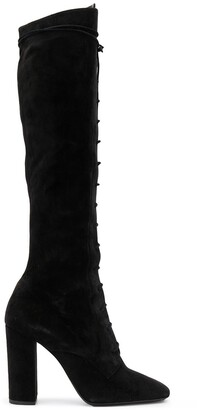 Saint Laurent Lace Up Knee Length 110mm Boots