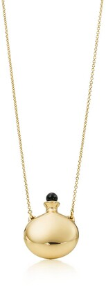 Tiffany & Co. Elsa Peretti Bottle round bottle pendant in 18k gold with a black jade stopper