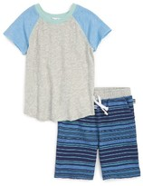Splendid Boy's Raglan Shirt & Stripe Shorts Set