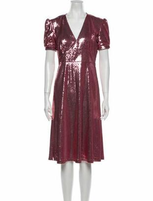 HVN V-Neck Midi Length Dress w/ Tags Pink
