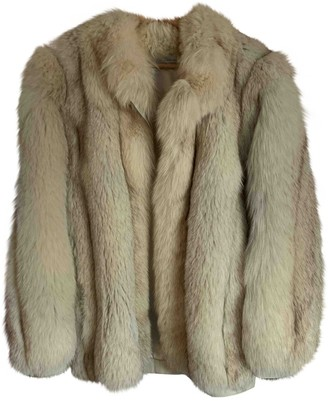 Colmar Beige Fox Coat for Women