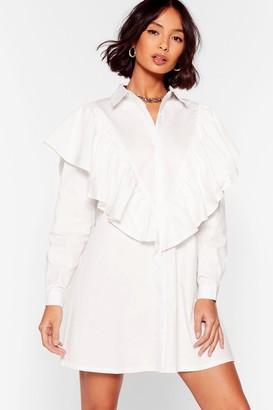 Nasty Gal Womens I Frill Be the One Ruffle Mini Dress - White