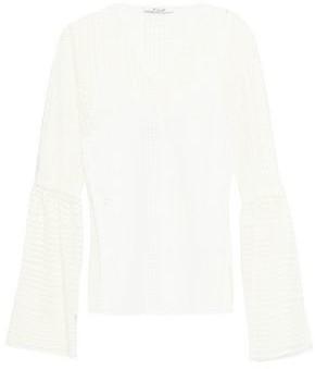 Derek Lam 10 Crosby Layered Cotton-knit Top