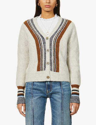 Sessun Maida striped knitted cardigan