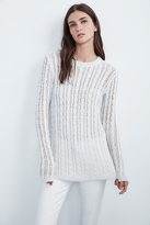 Avira Sheer Cable Knit Sweater