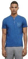 Kenneth Cole New York Men's Henry Neck T Shirt Garment Dye