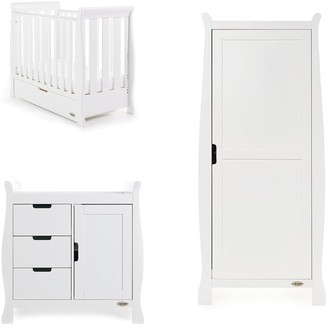 O Baby Obaby Stamford Space Saver Sleigh 3-Piece Nursery Room Set