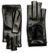 Gucci Donna Fingerless Leather Gloves