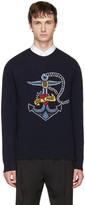 Valentino Navy joe Mary Hook Sweater