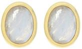 Cole Haan Bezel Set Faceted Stone Stud Earrings