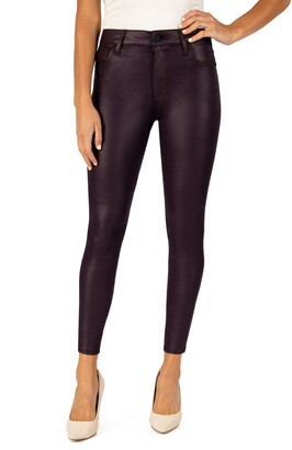KUT from the Kloth Connie High Waist Ankle Skinny Microsuede Pants