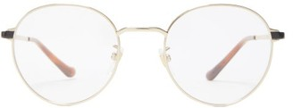 Gucci Round Metal Glasses - Gold