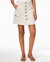 Jag Button-Front Cargo Skirt