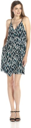 Greylin Women's Walson Silk Printed Surplus Dress