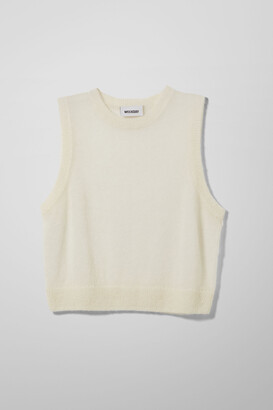 Weekday Tindra Vest - White