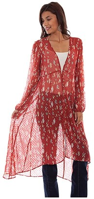 Scully Victoria Swiss Dot Printed Duster (Spice) Women's Clothing