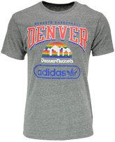 adidas Men's Denver Nuggets Pointed Tri-Blend T-Shirt