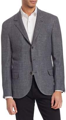 Brunello Cucinelli Textured Houndstooth Jacket