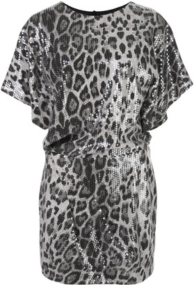 In The Mood For Love Sequined Animal Print Mini Dress