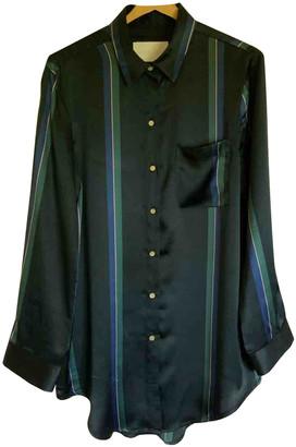 ASCENO Blue Silk Tops