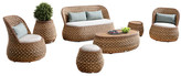 Indo Soul Mosch 7 Piece PE Rattan Outdoor Lounge Set