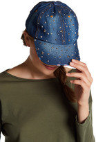 Cara Star & Stud Denim Baseball Cap